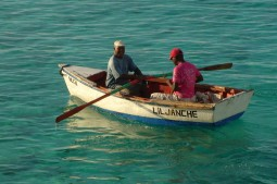 Fishermen from the village in front of Sun Reef - Sun Reef Eindruck